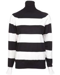 Jersey de cuello alto blanco y negro original 3186627
