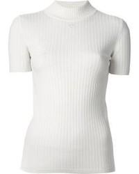 Jersey de cuello alto blanco de Courreges