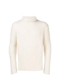 Jersey de cuello alto blanco de Isabel Benenato