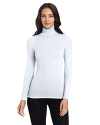 Jersey de cuello alto blanco de Three Dots
