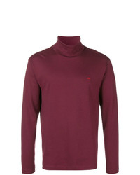 Jersey de cuello alto burdeos de Calvin Klein Jeans
