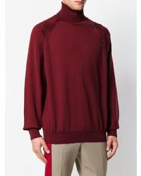 Jersey de cuello alto burdeos de Lanvin