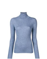 Jersey de cuello alto celeste de Sara Lanzi