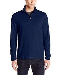 Jersey de cuello alto con cremallera azul marino de Alex Cannon