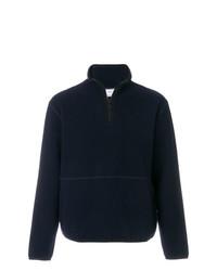 Jersey de cuello alto con cremallera azul marino de AMI Alexandre Mattiussi