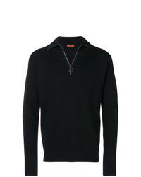 Jersey de cuello alto con cremallera azul marino de Barena