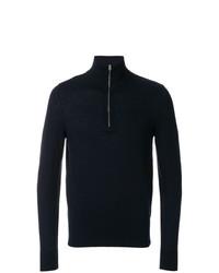 Jersey de cuello alto con cremallera azul marino de Burberry