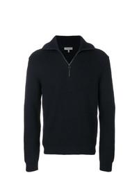 Jersey de cuello alto con cremallera azul marino de Lanvin
