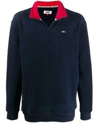 Jersey de cuello alto con cremallera de forro polar azul marino de Tommy Jeans