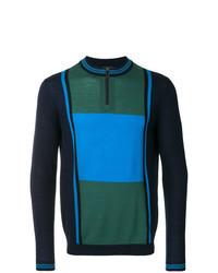 Jersey de cuello alto con cremallera en multicolor