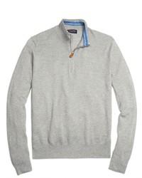 Jersey de cuello alto con cremallera gris