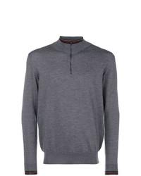 Jersey de cuello alto con cremallera gris de Etro