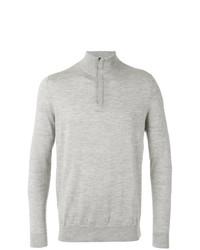 Jersey de cuello alto con cremallera gris de N.Peal