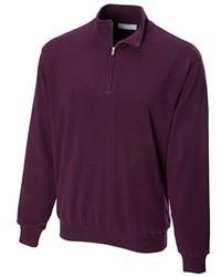 Jersey de cuello alto con cremallera morado oscuro de Cutter & Buck