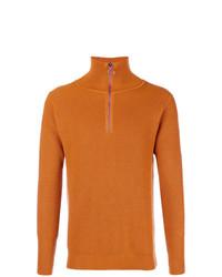Jersey de cuello alto con cremallera naranja de Barena