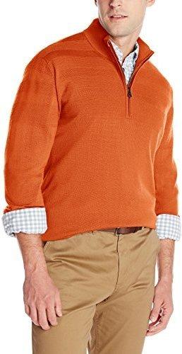 Jersey de cuello alto con cremallera naranja de Cutter & Buck