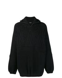 Jersey de cuello alto con cremallera negro de Balenciaga