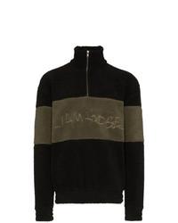 Jersey de cuello alto con cremallera negro de Liam Hodges