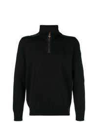 Jersey de cuello alto con cremallera negro de Paul & Shark