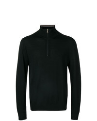 Jersey de cuello alto con cremallera negro de Paul Smith Black Label
