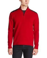 Jersey de cuello alto con cremallera rojo de Victorinox
