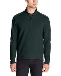 Jersey de cuello alto con cremallera verde oscuro de Victorinox
