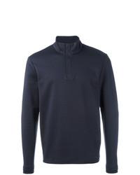 Jersey de cuello alto de botones azul marino de BOSS HUGO BOSS
