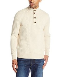 Jersey de cuello alto de botones en beige de Savane