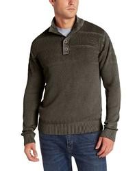 Jersey de cuello alto de botones en gris oscuro de Alex Stevens