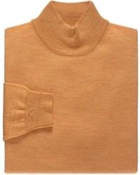 Jersey de cuello alto de botones naranja