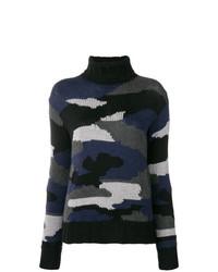 Jersey de cuello alto de camuflaje azul marino de P.A.R.O.S.H.