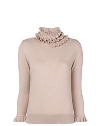 Jersey de cuello alto de encaje rosado de Barrie