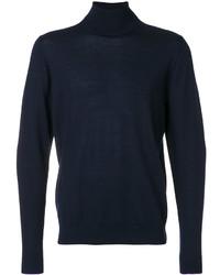 Jersey de cuello alto de lana azul marino de Paul Smith