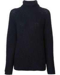 Jersey de cuello alto de lana azul marino de Sofie D'hoore