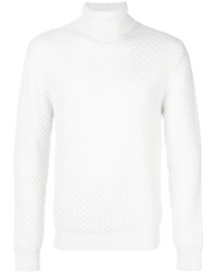 Jersey de cuello alto de lana blanco de Eleventy