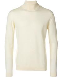 Jersey de cuello alto de lana blanco de Roberto Collina