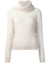 Jersey de cuello alto de lana de punto blanco de Maiyet