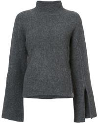 Jersey de cuello alto de lana en gris oscuro de Derek Lam 10 Crosby