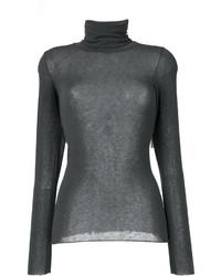 Jersey de cuello alto de lana en gris oscuro de Stefano Mortari
