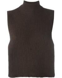 Jersey de cuello alto de lana en marrón oscuro de EACH X OTHER