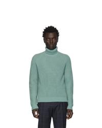 Jersey de cuello alto de lana en verde menta