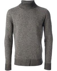 Jersey de cuello alto de lana gris
