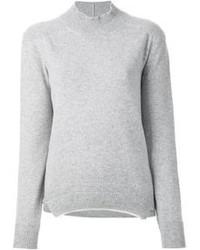 Jersey de cuello alto de lana gris de Jil Sander