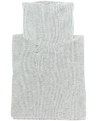 Jersey de cuello alto de lana gris de Lanvin