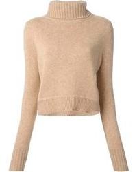 Jersey de cuello alto de lana marrón claro de A.L.C.