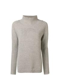 Jersey de cuello alto de lana marrón claro de Max & Moi