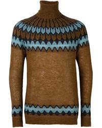 Jersey de cuello alto de lana mostaza de Laneus