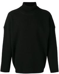 Jersey de cuello alto de lana negro de AMI Alexandre Mattiussi
