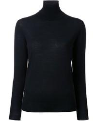 Jersey de cuello alto de lana negro de Stella McCartney