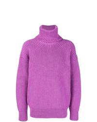 Jersey de cuello alto de lana violeta claro de Tom Ford